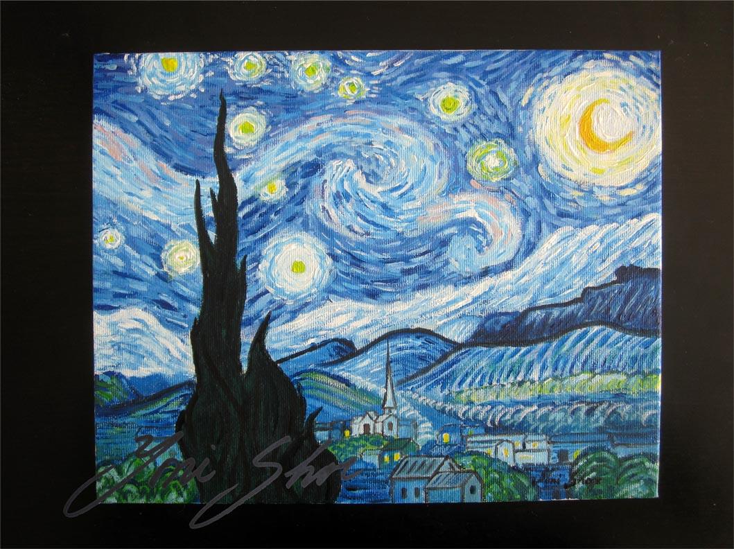 Van gogh starry night iv painting vincent van gogh starry night