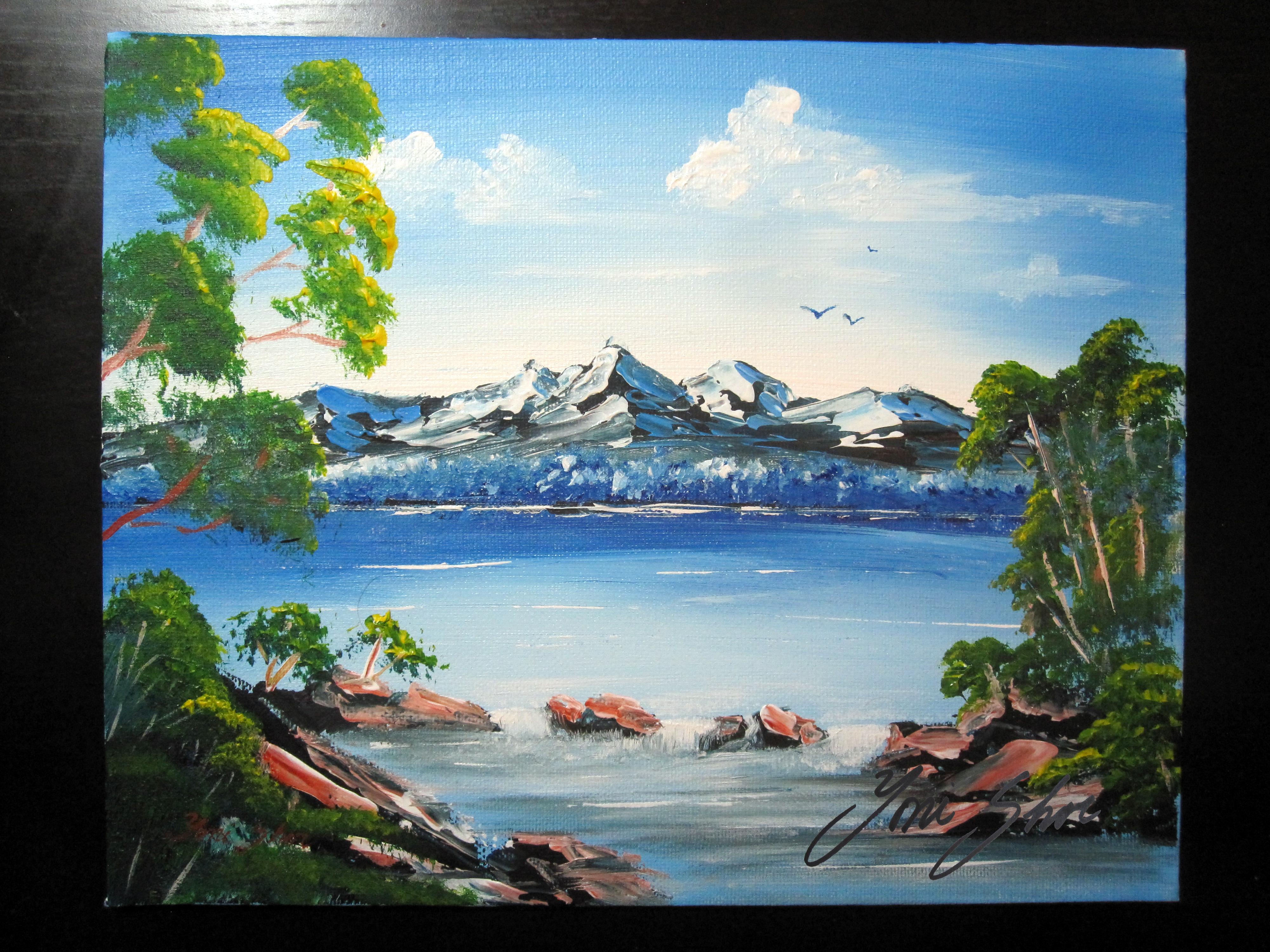Snow Capped Peaks After Len Hend Yoni Shor Fine Art