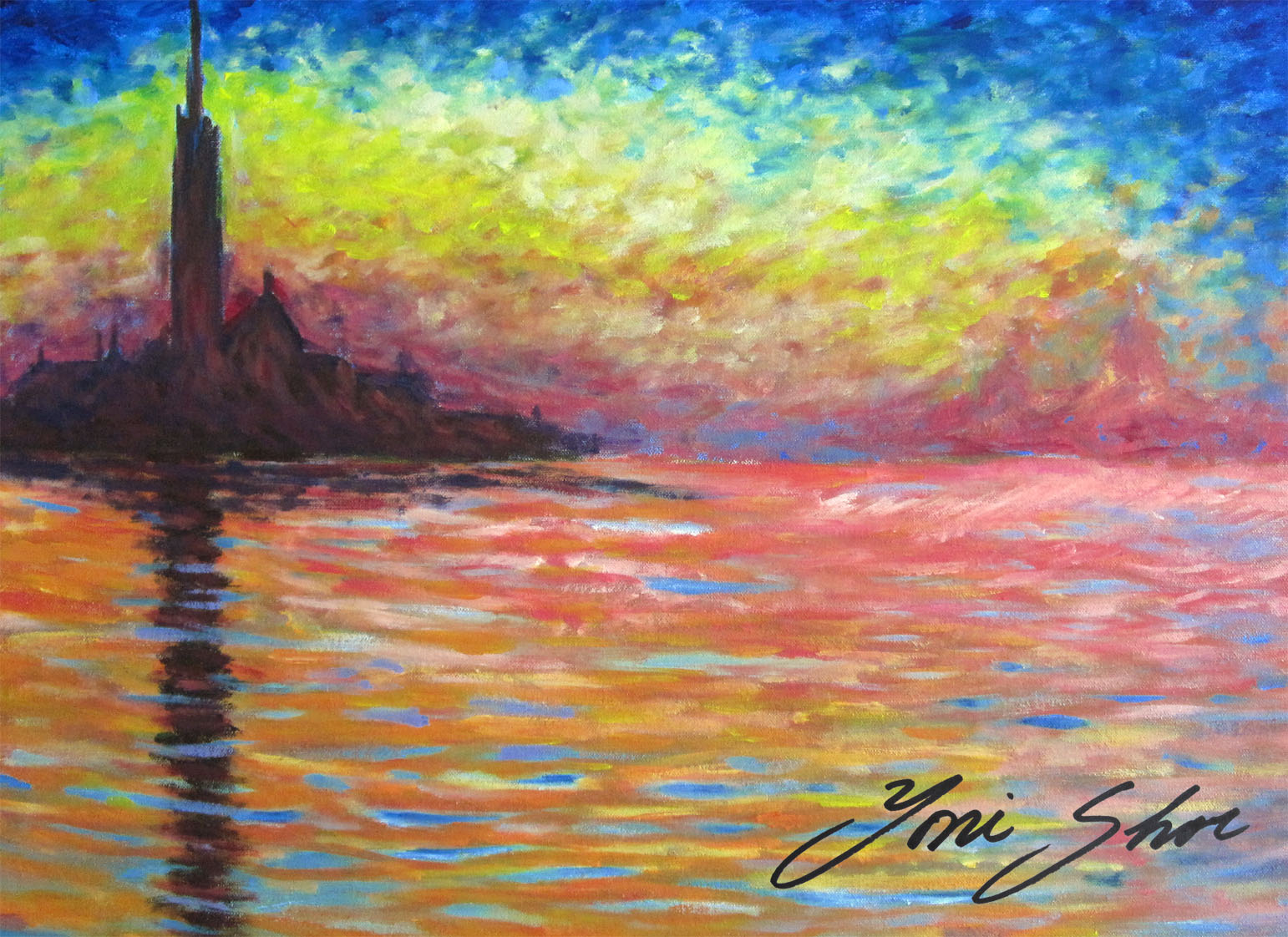 san giorgio maggiore at dusk 1908 after claude monet. Black Bedroom Furniture Sets. Home Design Ideas